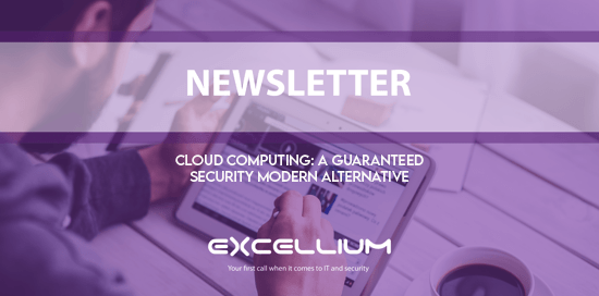 """Cloud Computing: a guaranteed security modern alternative"" banner"