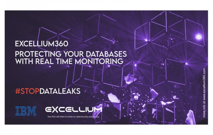 Purple banner about Excellium 360 and database protection