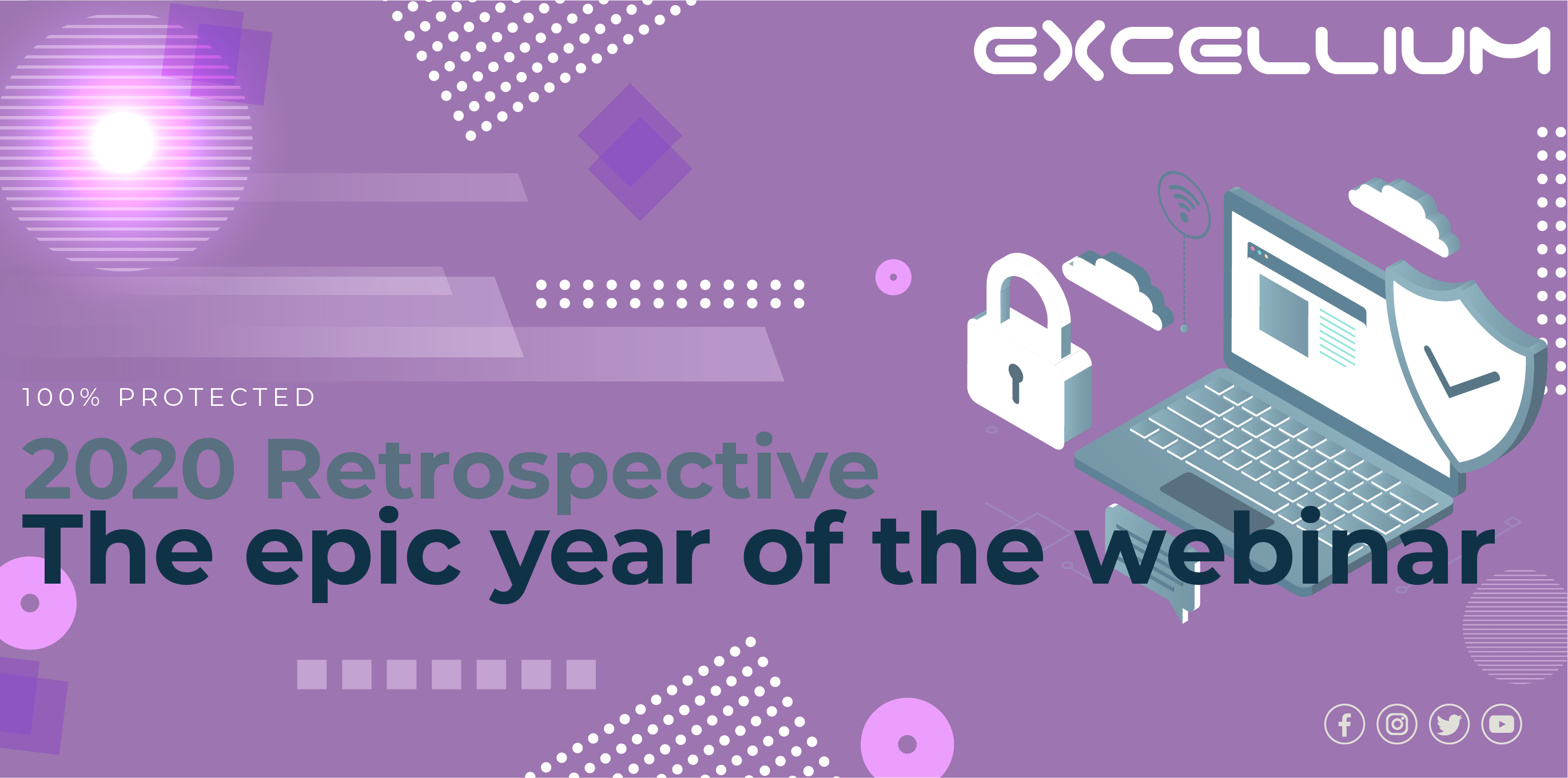 """The epic year of the webinar"" banner"